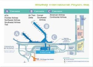Midway-airport-limo-map
